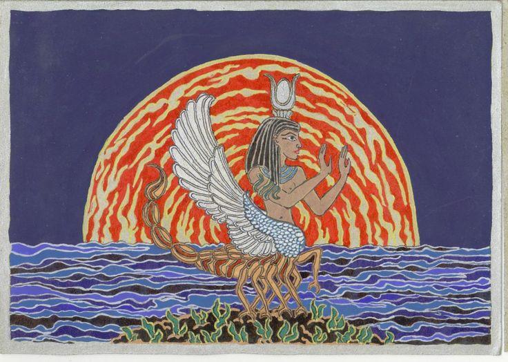 Skorpió törzsű, szárnyas Szelket, 2005 febr. Az álomkép aszcendensem korrigálása (Skorpió) közben merült fel.