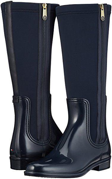 Tommy Hilfiger O1285dette 13r, Botas de Agua para Mujer, Azul (Midnight), 42 EU: Amazon.es: Zapatos y complementos