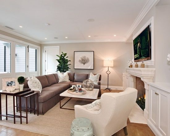 Living Room Dark Brown Leather Couch Design Pictures Remodel Decor And Ideas Light Grey Walls