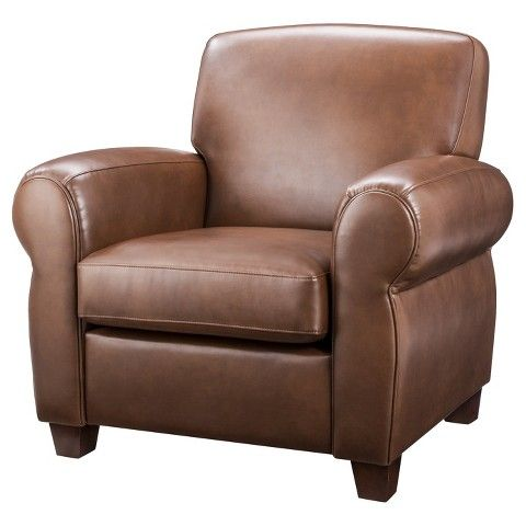 living room arm chair cigar arm club chair leather threshold colors chairs 12946