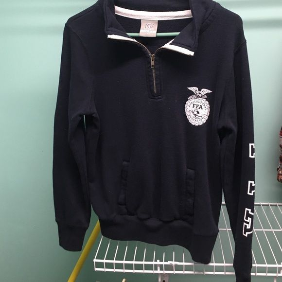 FFA Pullover Worn once, perfect condition. Navy in color. Tops Sweatshirts & Hoodies