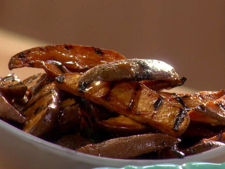 Grilled Sweet Potato Wedges with Maple Butter from FoodNetwork.com
