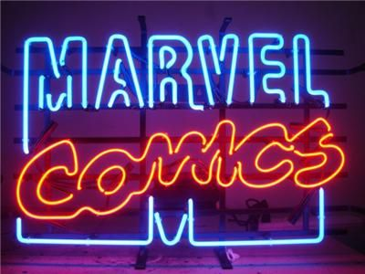 marvel comics neon sign. i actually found one of these in an antique shop...but that wanted $375 for it...