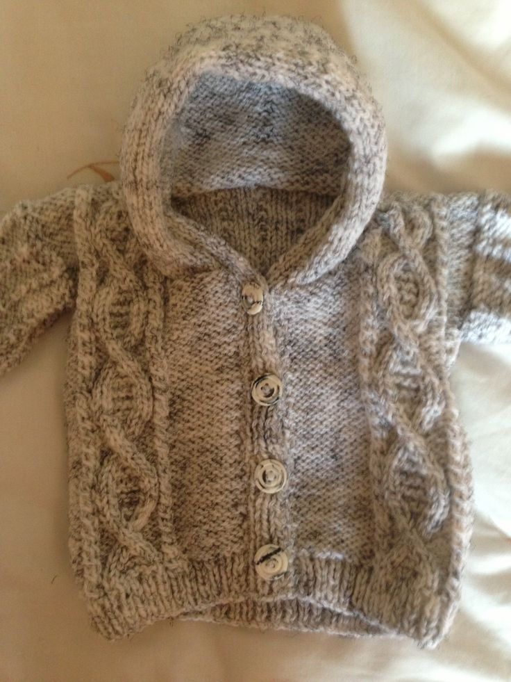 Baby Knitting Pattern Hoodie With Ears : Hand knitted hoodie - baby boy Toddler free hoodie ...