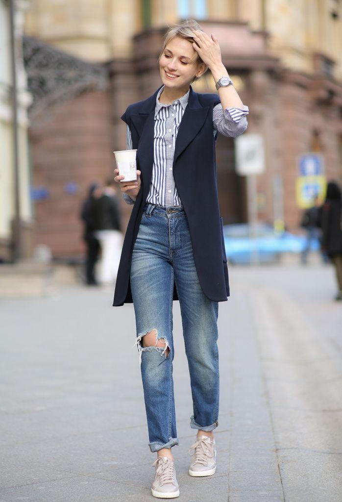 how to wear sleeveless blazer - Google Search
