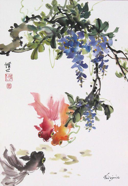 Image result for china goldfish art dynasty
