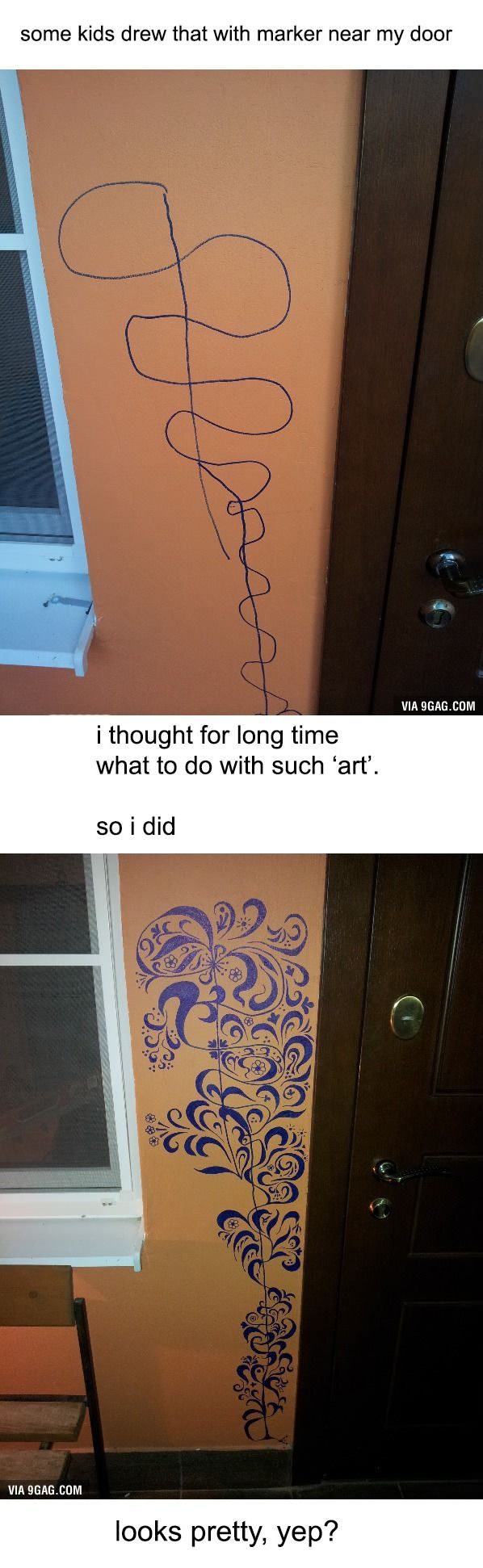 What to do when your kids draw on your walls with permanent markers.