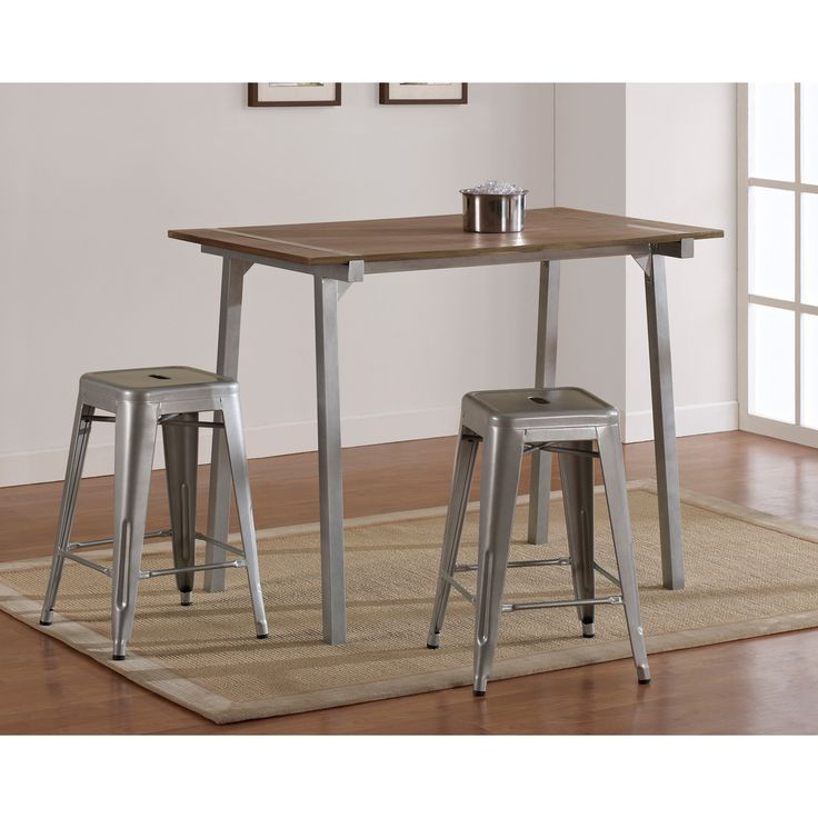 Tabouret Metal And Wood Table Overstock Com Shopping