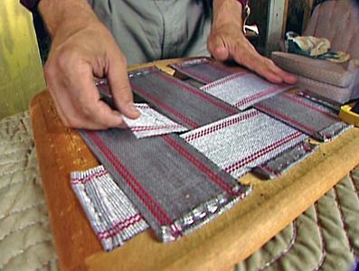 How to reupholster a seat pad; includes webbing.
