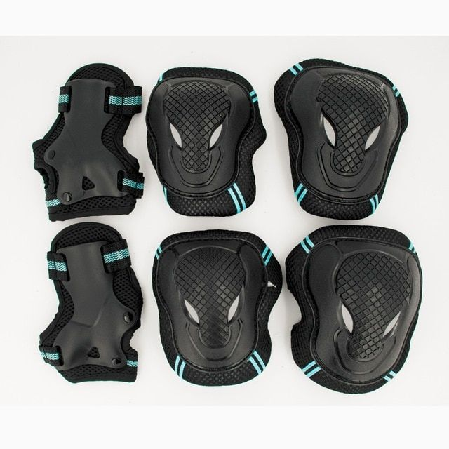 6PCS Skating Protective Gear Set Elbow Knee Pad Bikes Skateboard Kids Boys Girls
