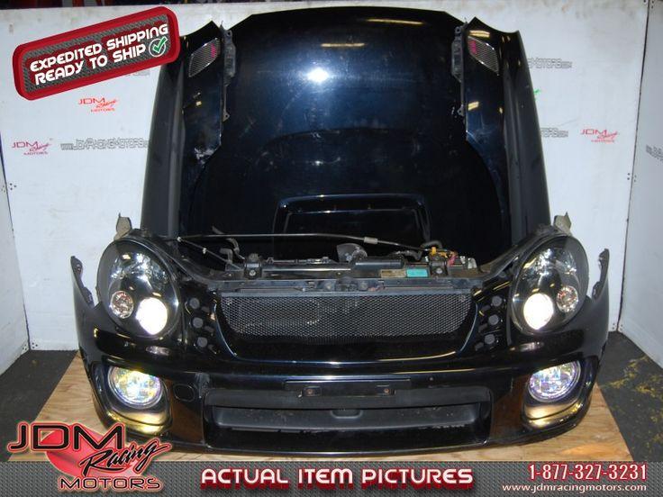 Used Subaru WRX STi Version 7 Bugeye Nose Cut, Front End Conversion, Radiator, Bumper, HID Headlights, Foglights, Fenders & STi Hood Scoop and splitter