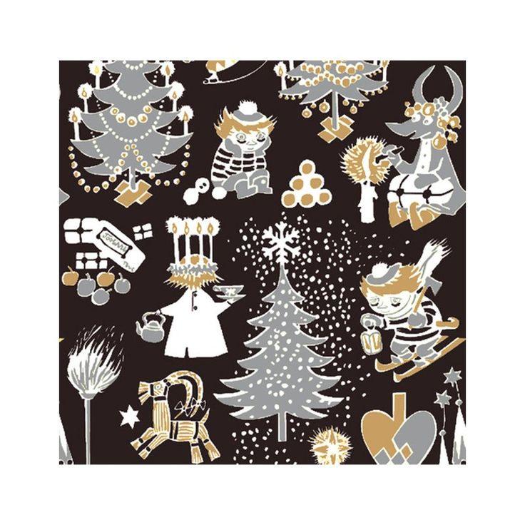 Beautiful Christmas Moomin patterned napkins, designed together with Finlayson. High quality napkins made in Finland, 20 pcs, size 33 x 33 cm.Kauniit punaisetJoulumuumiservetit, suunniteltu yhdessä Finlaysonin kanssa. Korkealaatuiset, valmistettu Suomessa. 20 kpl, koko 33 x 33 cm.Vackra röda Julmumin servetter, designade tillsammans med Finlayson. Högkvalitet, tillverkade i Finland. 20 st, storlek 33 x 33 cm.