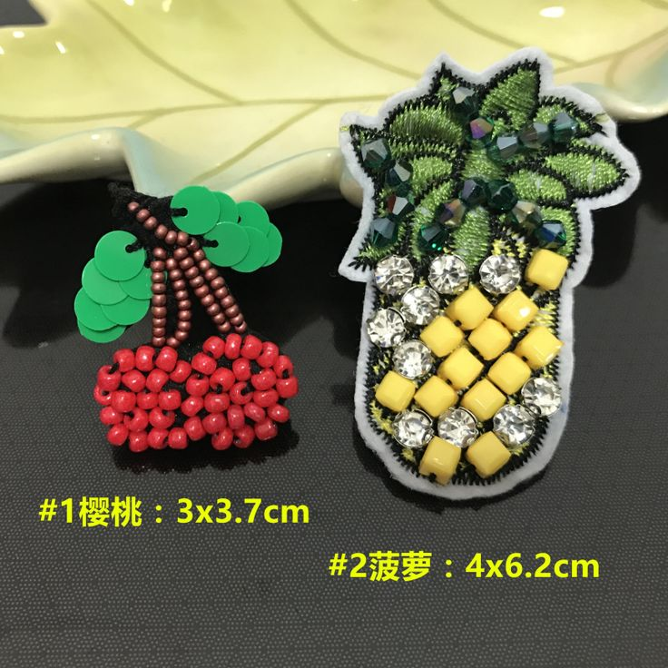 pineapple rhinestone beaded patches,sew on stickers for clothes applique patches for clothing parches termoadhesivos para ropa #Affiliate