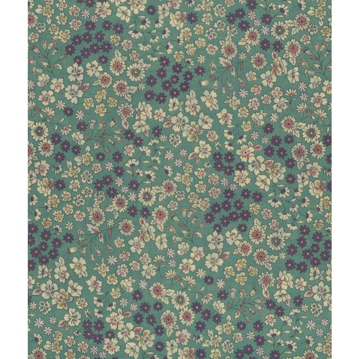 Tissu  Frou-Frou Fleuri Eucalyptus idéal pour vos créations couture. Il peut se prêter au jeu du mix and match notamment avec les motifs de la collection Etoile/Pois/Vichy, ou s'associer avec les tissus unis coordonnés.