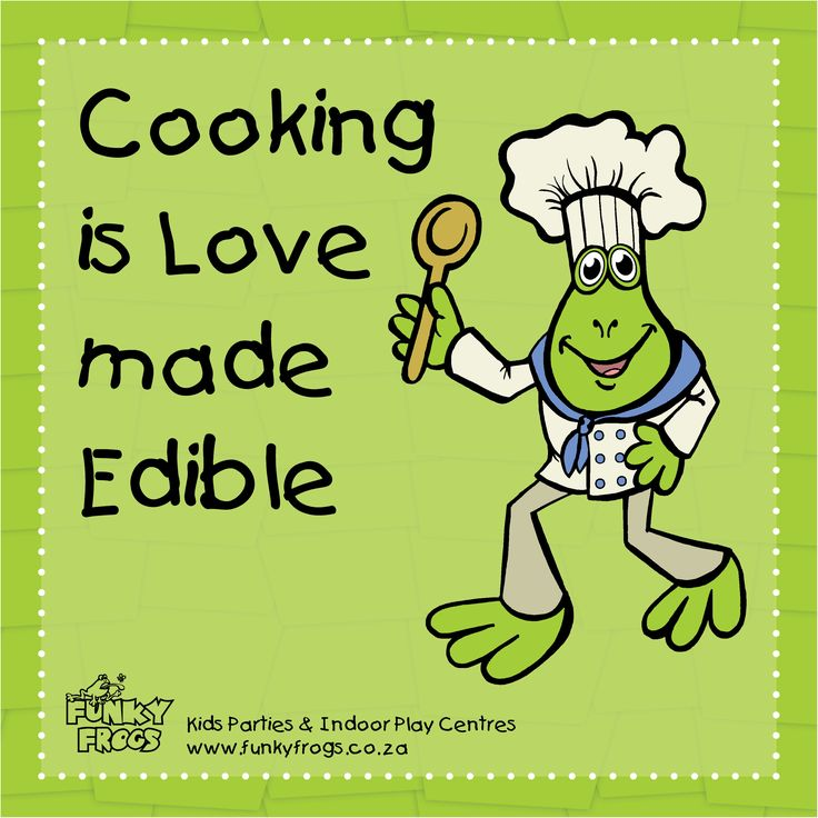 """Cooking is Love Made Edible"" - #FunkyQuotes http://www.funkyfrogs.co.za/"