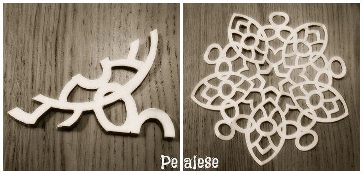 paper snowflake collage