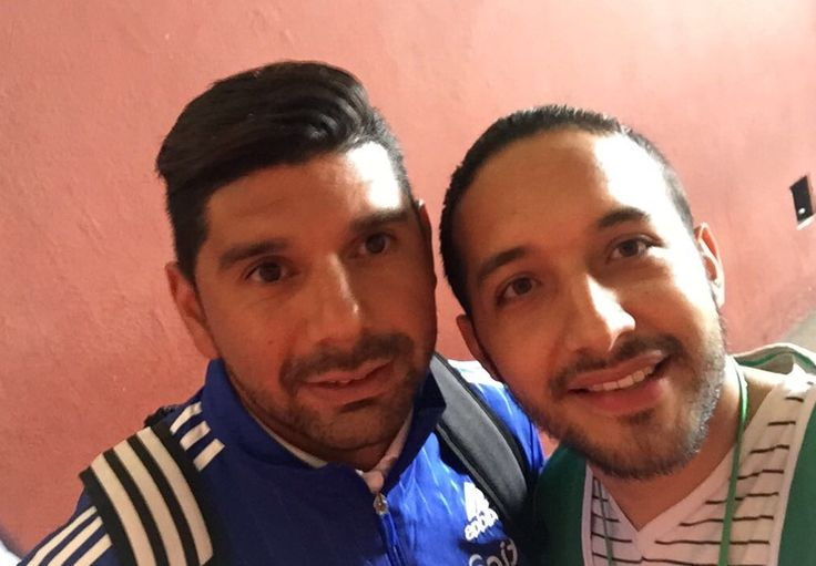 Con el crack Nestor Ortigoza