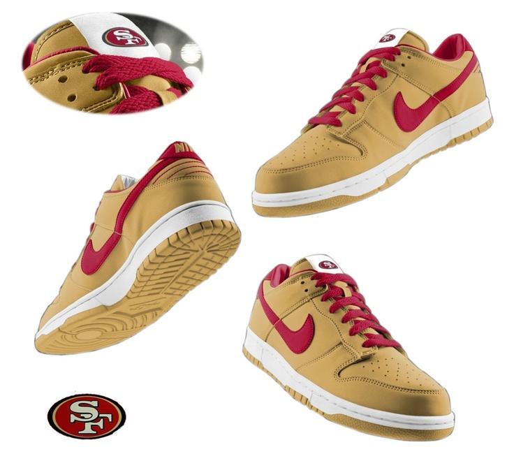 mens nike san francisco 49ers dunk shoes yellow id