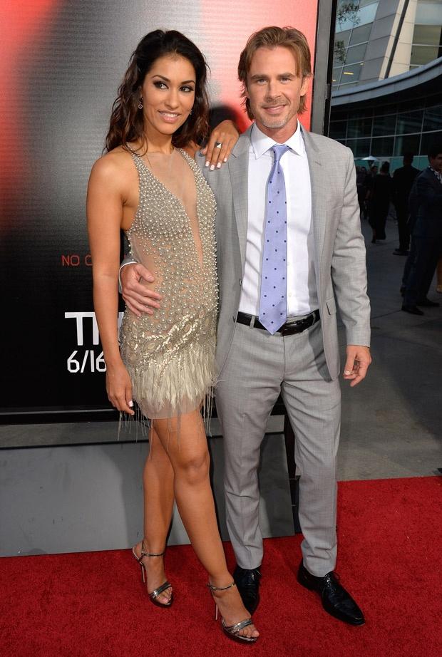 Janina Gavankar and Sam Trammell at the True Blood Season 6 Premiere on June 11, 2013