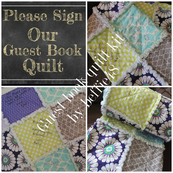 DIY, Memory Guest Book Quilt Kit, Customized, Special Event,  FAST Shipping