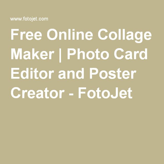 Free Online Collage Maker | Photo Card Editor and Poster Creator - FotoJet