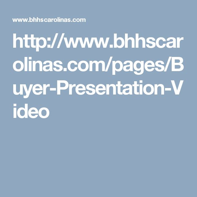 http://www.bhhscarolinas.com/pages/Buyer-Presentation-Video
