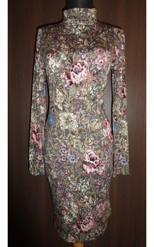 Envy virágmintás garbós ruha