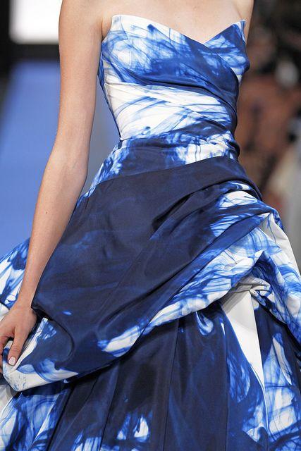 Monique Lhuillier splattered in blue. Find it here: http://bit.ly/LwYHAi