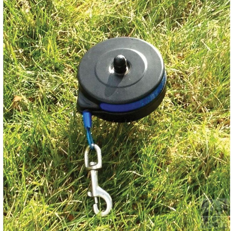 Bringing  your dog camping, and you want to let him have some room to roam? BUT, you don't want to trip all over long leashes?  Check out this bad mammo jamma...  It is a leash that retracts... Rad... #camping #dogs
