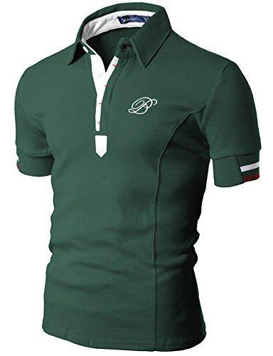 Doublju Mens Fashion Henley manga corta adelgaza las camisas aptas en la tienda de ropa de hombre Amazon: