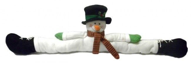 Christmas Snowman Split Door Draft Dodger Stopper