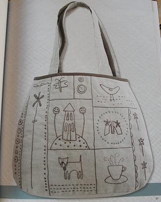 bolso con bordados