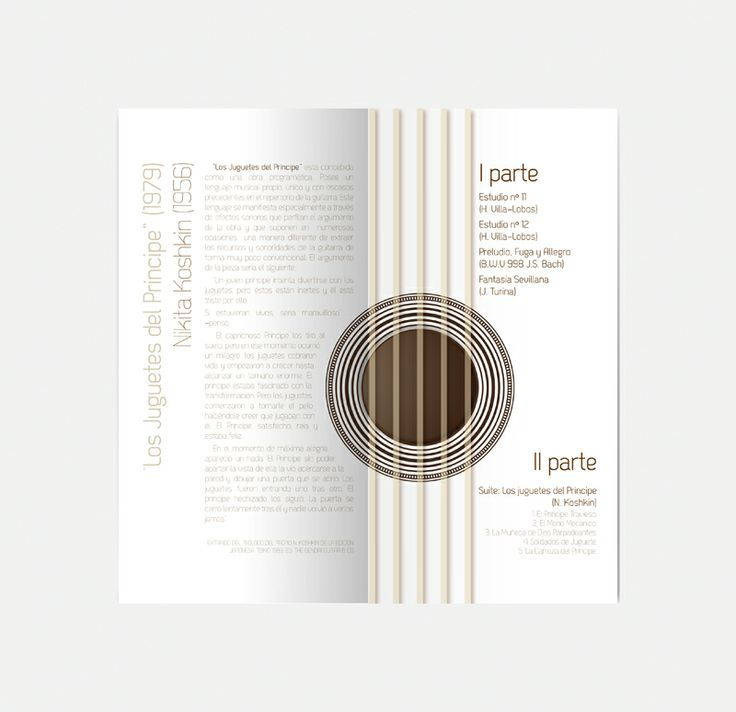 Interior diptico concierto de guitarra