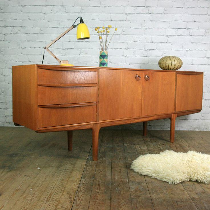 Mid Century McIntosh Large Teak Sideboard - Mustard Vintage