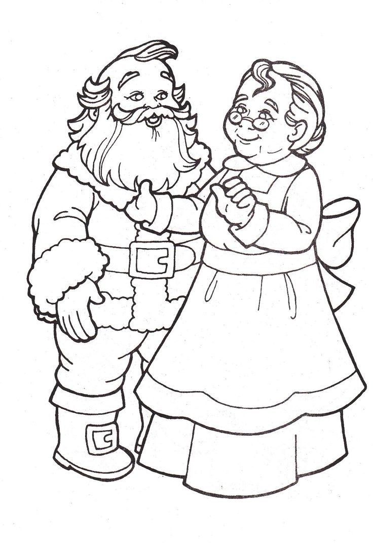 Mr. and Mrs. Santa Claus - Coloring Pages | Christmas ...