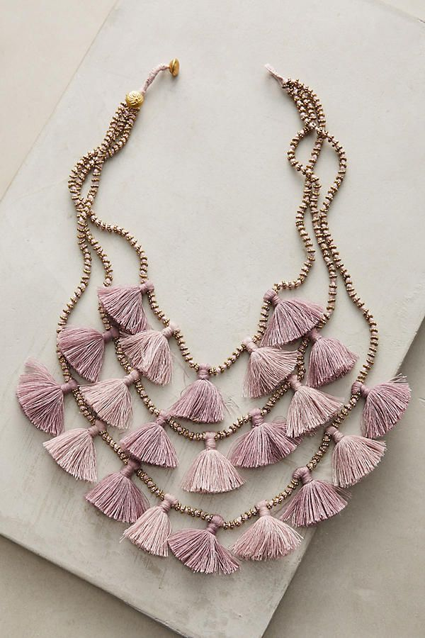 Slide View: 1: Gia Layered Bib Necklace