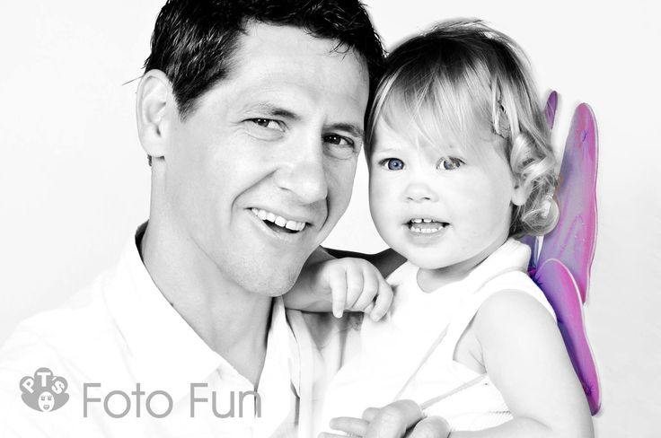 Dad with little fairy girl