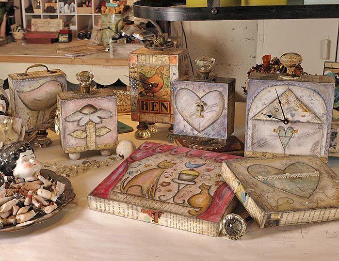 Lisa Kaus Original PaintingsKaus Originals, Hens Clocks, Media Ideas, Kaus Work, Art Journals, Media Art, Lisa Kaus, Kaus Painting, Decor Painting