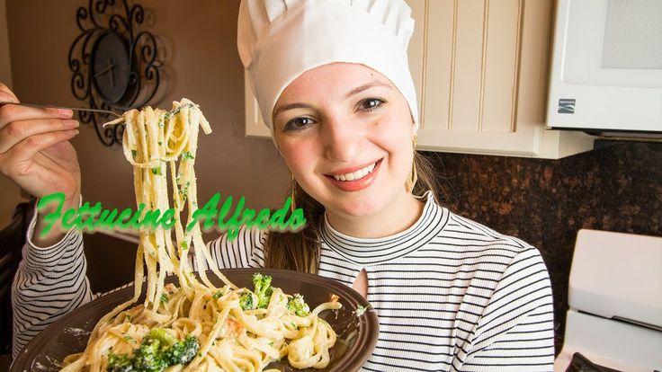 Receta de Pasta Fettucine Alfredo con Pollo y Brocoli, S2:E14