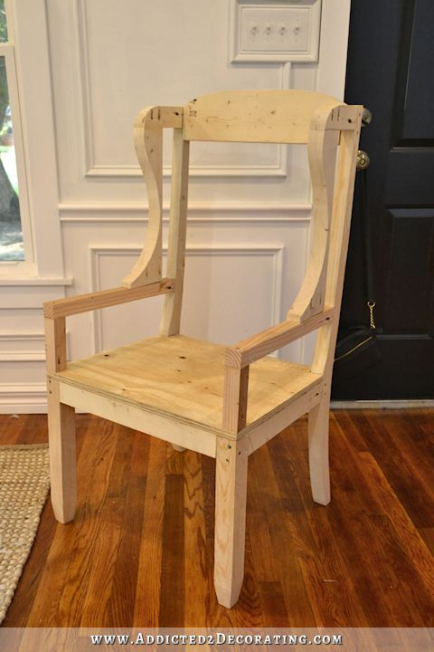 DIY wingback dining chair - how to build a frame for an upholstered chair - 25