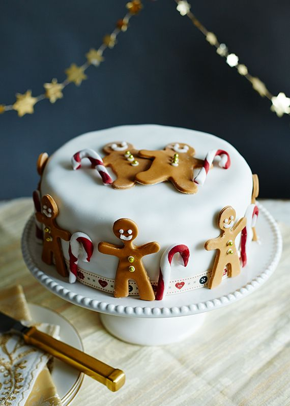 Mowie Kay Morrisons Christmas Cakes Shoot - gingerbread men christmas cake ( no recipe)