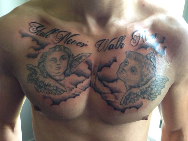 Tattoo chest you'll never walk alone