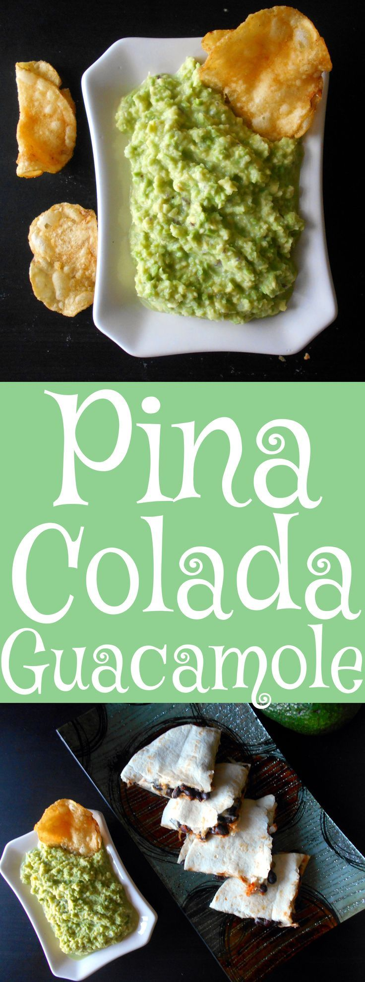 Pina Colada Guacamole is very easy to make.  Use the same ingredients as Pina Colada and add guacamole ingredients too. #GameDayFavorites #OEPGameDay #Sp