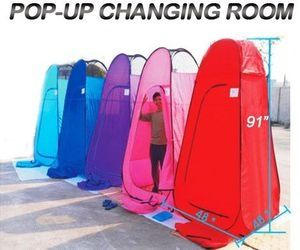 6.25' Portable Pop-Up Changing Tent Room Camping R-Blue
