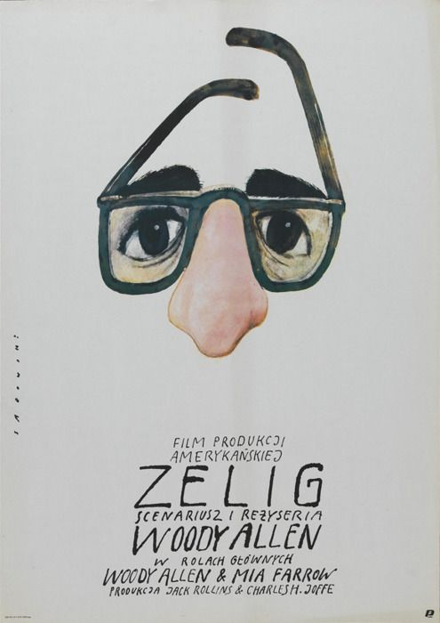 "Looks interesting. // Zelig (1983) dir. by Woody Allen. A ""documentary"" about a man who can look & act like whoever he's around, & meets various famous people."
