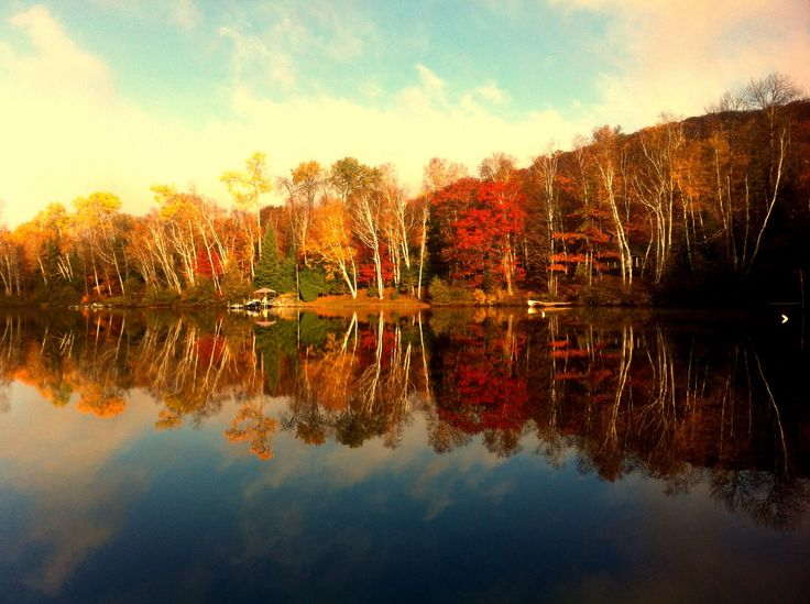 Fall time reflections.!! Photo by Kyal Stephen Smith. Dorset Ontario Canada.!Taken with IPhone 4.