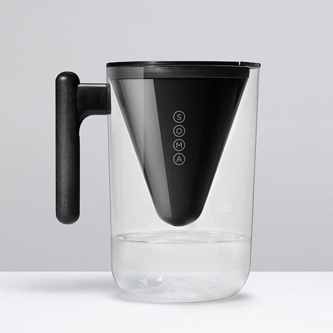 Soma designs beautiful, sustainable water filters. Each purchase supports charitable water projects and includes a convenient filter replacement service.