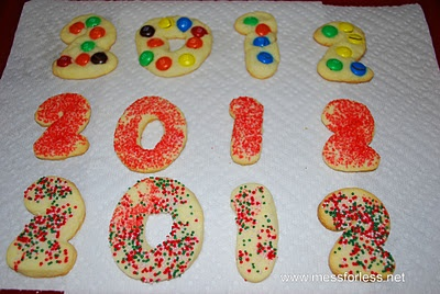 Food Fun Friday - New Year's Cookies from Mess for Less