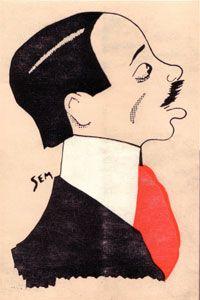 Alberto Santos-Dumont (1873-1932) par Georges Goursat dit Sem.
