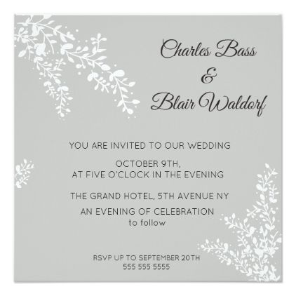 Floral theme wedding invitation - invitations personalize custom special event invitation idea style party card cards